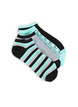 Set of 4 Striped Ankle Socks - 1143041452319