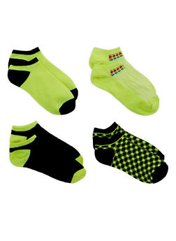Assorted Ankle Socks - LIME - 1143041452918
