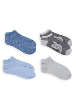 Set of 4 Assorted Ankle Socks - 1143041454118
