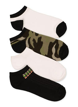 4 Pack Assorted Camo Ankle Socks - 1143041454119