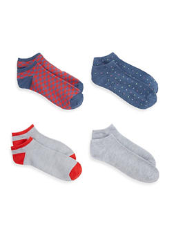 Set of 4 Printed Ankle Socks - 1143041455318