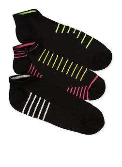3 Pairs Compression Low Cut Socks - 1143041458341