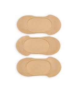 Set of 3 Nude No Show Socks - 1143068061014