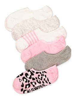 6 Pack Assorted Striped Socks - 1143068063250