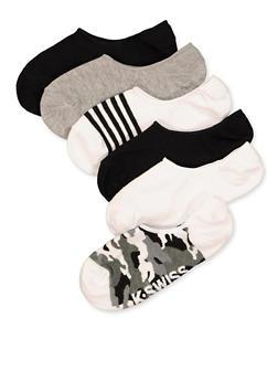 6 Pack No Show Socks - 1143068068507