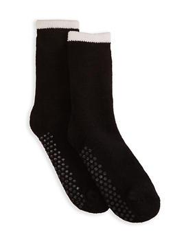 Sherpa Lined Knit Slipper Socks - 1148068060902
