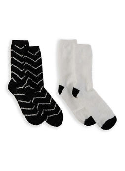 Set of 2 Soft Knit Socks - 1148068067809