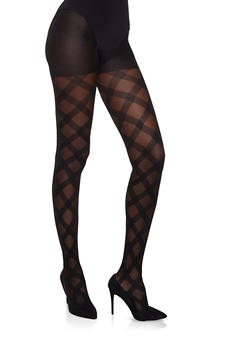 Black Printed Tights | 1150041450086 - BLK PTN - 1150041450086