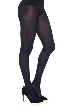 Opaque Footed Tights - NAVY - 1150068064400