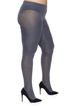 Plus Size Sweater Knit Footed Tights - 1150068064409