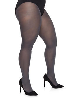 Plus Size Solid Tights - 1150068065500
