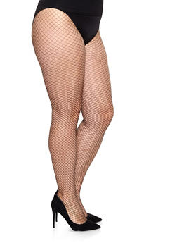 Plus Size Patterned Footed Tights - BLACK/WHITE - 1150068067717
