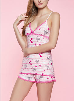 Good Night Pajama Cami and Shorts Set - 1152052310365