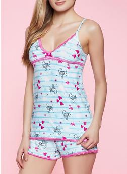 Good Night Pajama Cami and Shorts Set - 1152052310365