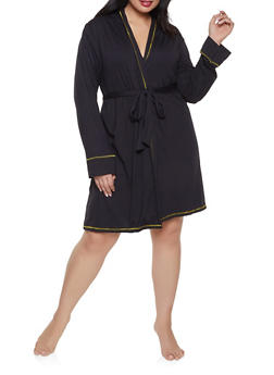 Plus Size Love Robe and Chemise Set - 1152069001540
