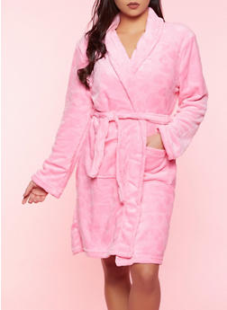 Heart Plush Robe | Pink - 1154052310006