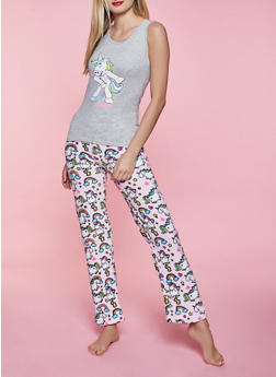 Floss Like A Boss Pajama Tank Top and Pants Set - 1154052311713