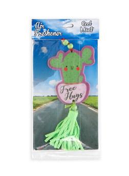 Free Hugs Cactus Air Freshener   Cool Mint - 1163033900703