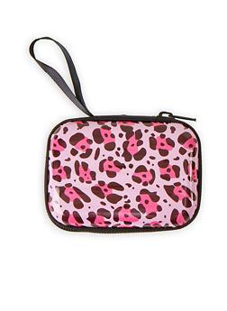 Pink Leopard Zip Card Wallet - 1163067440006