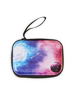 Galaxy Print Zip Card Wallet - 1163067440008