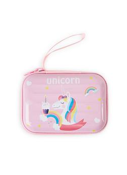 Unicorn Graphic Zip Card Wallet - 1163067440011