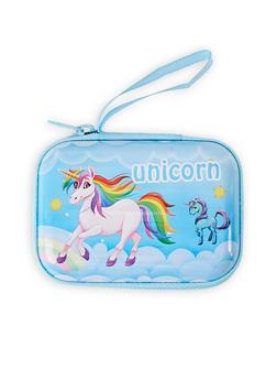 Blue Unicorn Zip Card Wallet - 1163067440012
