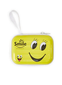 Smile Best Wishes For You Zip Card Wallet - 1163067440015