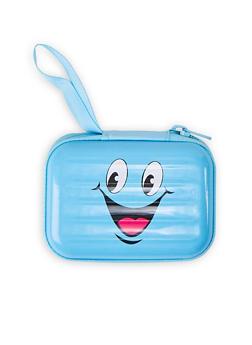 Smiley Face Zip Card Wallet - 1163067440017