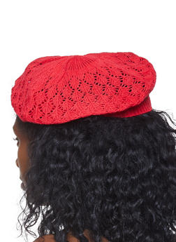 Knit Beret - RED - 1163067441008