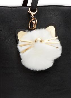 Cat Pom Pom Keychain - 1163067442005