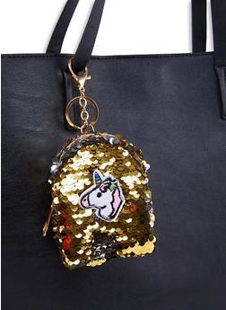 Unicorn Reversible Sequin Backpack Keychain - 1163067442508