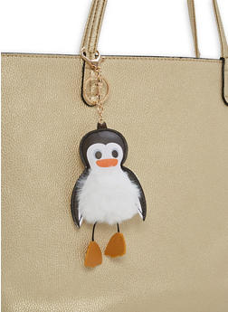 Penguin Pom Pom Keychain - 1163067445008