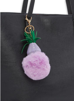 Pineapple Pom Pom Keychain - 1163067448000
