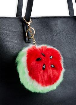 Watermelon Pom Pom Keychain - 1163067448011