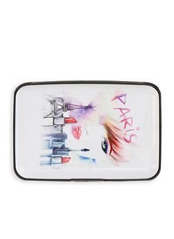 Paris Graphic Accordion Card Wallet - 1163067449208