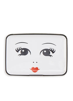 Face Graphic Accordion Card Wallet - 1163067449219