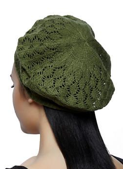 Crochet Beret | 1163067449966 - OLIVE - 1163067449966