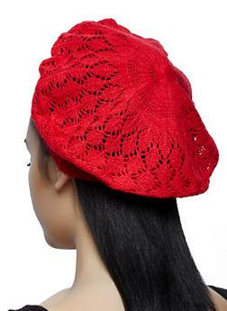 Crochet Beret | 1163067449966 - RED - 1163067449966