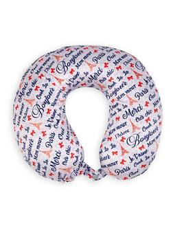 French Phrase Memory Foam Travel Pillow - 1163073391061