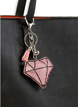 Rhinestone Diamond Keychain - 1163074390343