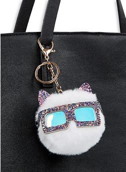 Glitter Critter Pom Pom Keychain - 1163074390358