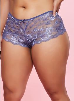 Plus Size Lace Cheeky Panty | 1168068064819 - 1168068064819