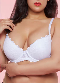 Plus Size Lace Bra | White - 1169035161170