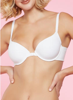 Front Closure Push Up Bra | White - 1175059293021