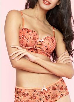 Long Line Floral Lace Bra - 1175064870133
