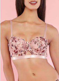 Floral Lace Long Line Bra - 1175064878840