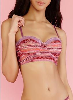 Aztec Lace Push Up Bra - 1175064879847