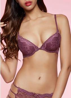 Push Up Lace Balconette Bra | 1175068064993 - 1175068064993