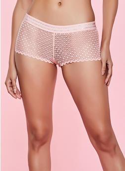 Caged Crochet Boyshort Panty - 1176035160757