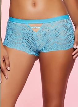Elastic Band Caged Lace Boyshort Panty | 1176035162749 - 1176035162749